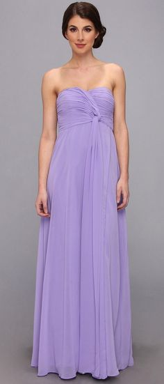 6PM  Strapless Long Chiffon With Twist Dress