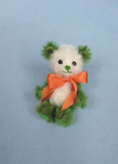 Bear Miniature Artist Bear MiniatureTeddy Bear. $42.00, via Etsy.