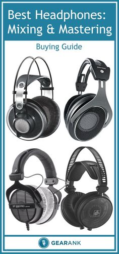 Guide to the Best Open-Back Headphones for Mixing and Mastering. Includes a recommended list of headphones containing Gearank scores and analysis of what actual users like or don't like about each set of headphones. There are also some headphone buying tips for music producers and recording enthusiasts.