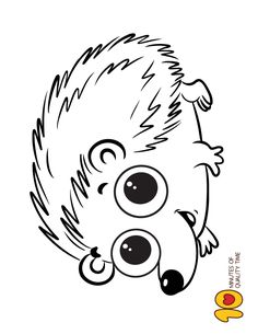 Cute Hedgehog Coloring Page Snake Coloring Pages, Easy Coloring Pages, Coloring Sheets, Coloring Books, Hedgehog Colors, Cute Hedgehog, Animal Drawings, My Drawings, Animal Outline