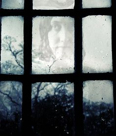 Victorian Ghost Photograph - Gothic Haunted Photo via Etsy.