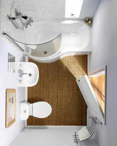 comment bien aménager une jolie salle de bain blanche avec tapis en rotin beige