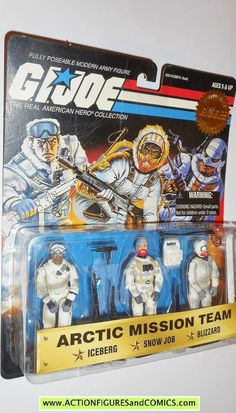 GI Joe ARCTIC MISSION TEAM iceberg snow job blizzard moc 1997 15th annivesary