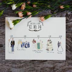 Bespoke Illustrated Wedding Schedule