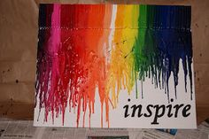 Being Inspired: Day 12 - Melted Crayon Art