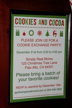 Cookies and cocoa party plus FREE printables!!!