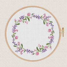 flowers cross stitch pattern L