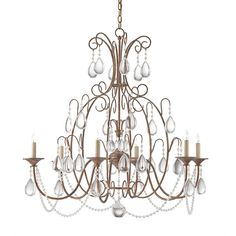 Cinderella Chandelier design by Currey & Company ($4,620) ❤ liked on Polyvore featuring home, lighting, ceiling lights, furniture, chandeliers, distressed lamp, beaded chandelier, beaded lamp and currey company lighting
