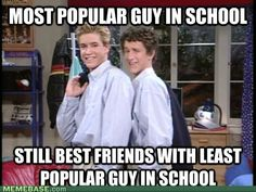 Saved By the Bell; by the way this never occurs in real life....