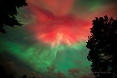 Photo of the Northern Lights taken last night in the Upper Peninsula. Stunning.