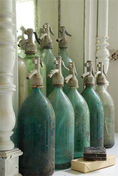 Vintage seltzer bottles.