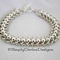 Centipede Chain Mail Bracelet with Bonus Earrings | JewelryLessons.com