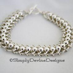 Centipede Chain Mail Bracelet with Bonus Earrings | JewelryLessons.com