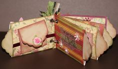 Mini Toilet Paper Roll Album - stripe across the tp roll under the mini envelope