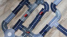 Autobaan maken uit oude jeans. Door Karolien- Rok en Rol, Vitaya