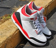 Air Jordan 3 Retro White Fire Red-Silver-Black. Share more Jordan 0ff4fdfd5