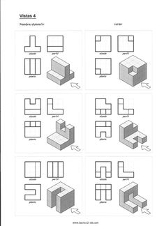 Architecture Symbols, Architecture Drawing Art, Geometric Drawing, Geometric Shapes, Architecture Student Portfolio, Isometric Drawing Exercises, Orthographic Drawing, Visual Perception Activities, Plate Drawing