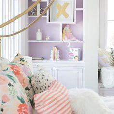 Elegant Lilac Colored Bedrooms