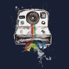 polaroid tshirt design $25.77