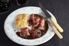 Sunday Roast Beef with Pan Gravy and Creamy Scalloped Potatoes