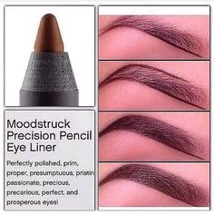 Moostruck Precision Pencil Eye liner not just for your eye but for perfect eyebrow... Remember they are the frame of our face and it's very important to keep them nice and tidy!!