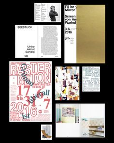 thisiscatalogue: Nice updates from Bureau David Voss. Book Design Layout, Print Layout, Design Art, Print Design, Magazine Design, Collage Book, Mascot Design, Publication Design, Layout Inspiration