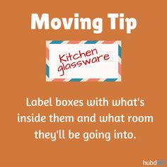 Be organized with your moving boxes. #moving