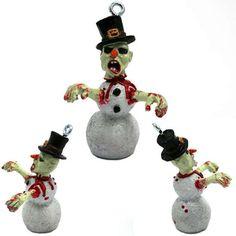 zombie snowman ornaments