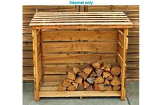 Wood storage from upcycled pallet