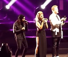 """Avi, Kirstie & Scott's reaction to Kevin's high note during """"If I Ever Fall in Love"""" #pentatonix"""