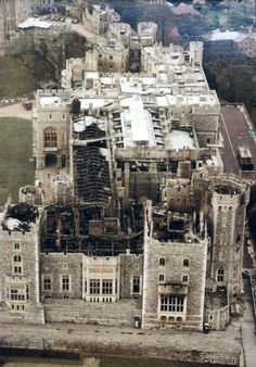 Windsor Castle after the fire -1992