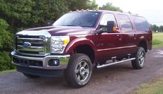 A Super Duty made into an Excursion-sweet. Omg I want!!!!!