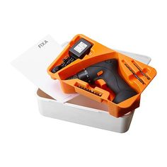 IKEA - FIXA, Screwdriver/drill, li-ion, , 1-speed cordless screwdriver/drill for general screwdriving or simple drilling work.15 torque settings for screwdriving allow you to adjust the amount of torque to suit different tasks.Built-in lithium-ion battery with low self-discharge rate so the power tool is ready to use whenever you need it.You can recharge the battery about 500 times, which is the equivalent of recharging it every other week for 20 years.Electronic Cell Protection (ECP) ...