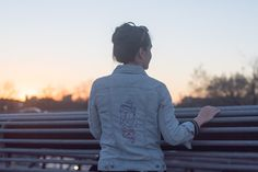 DIY embroidered jean jacket - Likely By Sea