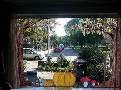 Nieuw seizoen, nieuw raam Eindelijk tijd genomen voor een nieuwe raamschildering