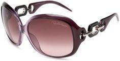 Roberto Cavalli Womens RC515SSW80Z Rectangular Wrap Sunglasses,Lilac Frame/Purple Lens,One Size Roberto Cavalli. $290.00