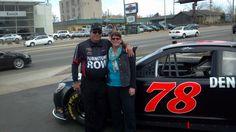 checking out Kurt Busch's Furniture Row Racing car