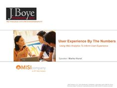"""""""User Experience By The Numbers"""" How to apply web analytics to your user experience. This is were user experience and web analytics begins to merge. Ntt Data, Web Analytics, User Experience, Numbers, How To Apply, Numeracy"""
