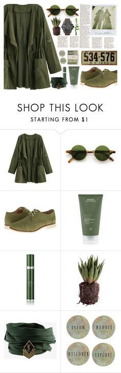 """""""Wander&Explore"""" by amelie-poulain-amelie ❤ liked on Polyvore featuring Cole Haan, Aveda, RéVive, Diesel, Jack Spade, PLANT and Yves Saint Laurent"""
