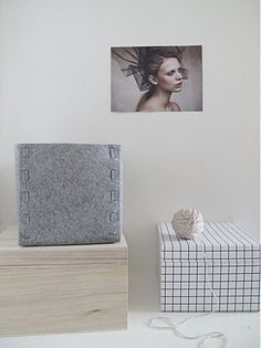 DIY Caja guardatodo de fieltro / Storage box
