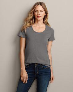 Essential Slub Short-sleeve Scoop-neck T-shirt   Eddie Bauer