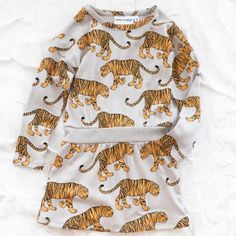 mini rodini organic tiger dress
