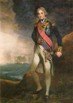 Horatio, Lord Nelson (29 September 1758–21 October 1805).  Portrait by John Hoppner (ca. 1823)