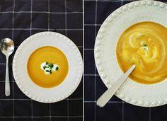 sopa de lentilhas e caril