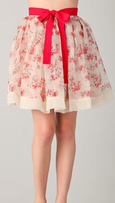RED Valentino Floral Skirt - beautiful but the price tells me I'd better sew this myself ;-)