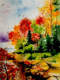Barb's Daily Creations: View from the Bridge (in the style of Z.L. Feng