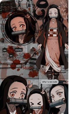 Nezuko  collage wallpaper  Demon Slayer
