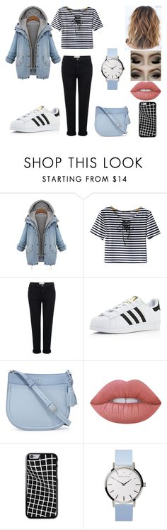 """""""Untitled #255"""" by kora-muffin on Polyvore featuring Chicnova Fashion, Current/Elliott, adidas, Kate Spade and Lime Crime"""