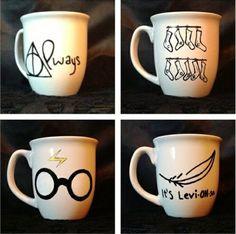 Mugs personnalisé façon Harry Potter (à faire avec des crayons à porcelaine