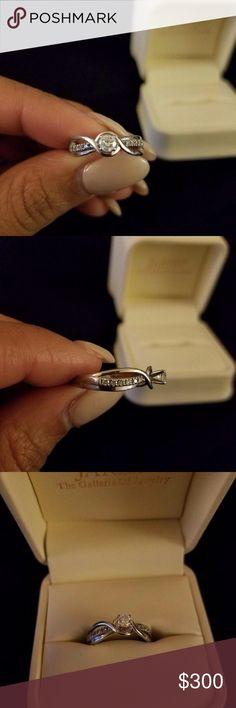 Engagement ring Size 6 Beautiful 10k white gold engagement ring. 1/3 karat diamond Kay Jewelers Jewelry Rings